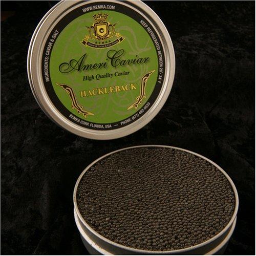 Bemka.com American Sturgeon Hackleback Wild Caviar, 16-Ounce Tin ()