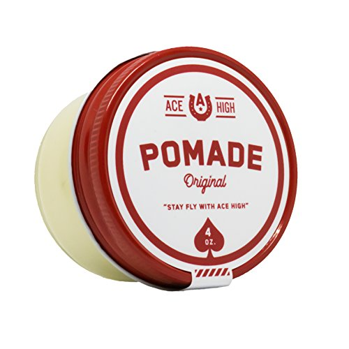 (Ace High Pomade, Strong Hold, Natural Shine, Water Based, Hand Crafted, 4oz)
