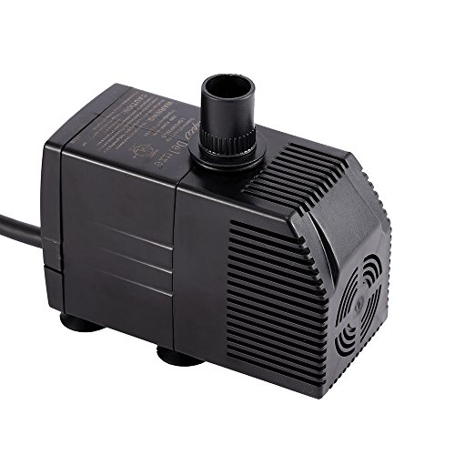 Gph Waterfall (Simple Deluxe 290 GPH UL Listed Submersible Pump with 6' Cord, Water Pump for Fish Tank, Hydroponics, Aquaponics, Fountains, Ponds, Statuary, Aquariums & Inline)