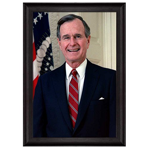 Portrait of George H W Bush (41th President of the United States) American Presidents Series Framed Art Print