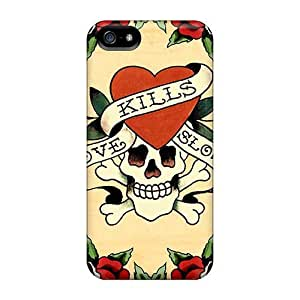 Rosesea Custom Personalized Hot SbF28514DxqG Cases Covers Protector For Iphone 5 5s- Ed Hardy wangjiang maoyi
