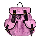 3D Printing Rose Red Big Unicorn Shadow Pattern PU Strap Backpack for Hiking Sports Traveling