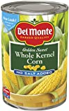Del Monte Whole Kernel Gold Corn No Salt Added, 15.25-Ounce (Pack of 24)