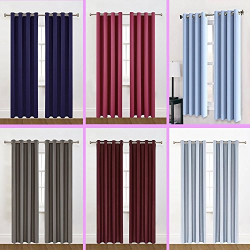 2 Panels 95 inch Long Sewing Grommets Blackout - 95 Inch Curtain Panels Set