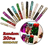 20 Pack Mermaid Bracelet, Birthday Party Favors Supplies Gifts Toys, Cleverplay Little Magic Reversible Charm Flip Sequins Slap Bracelets Wristband for Kids,Girls,Boys