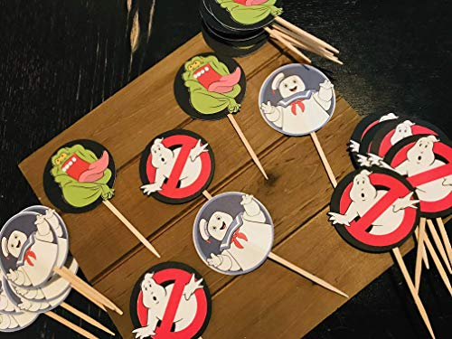 Ghost Themed Cupcake Toppers