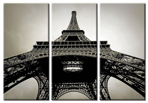 Amazon Picture Sensations Framed Huge 3 Panel Modern France Paris Eiffel  Tower Giclee Canvas Art