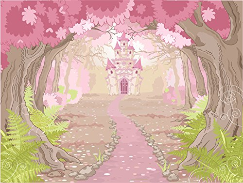 Princess Castle In Enchanted Wood Fairytale Wall Mural Kids Photo Wallpaper available in 8 Sizes Gigantic Digital by azutura (Image #2)