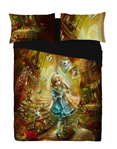 Wild Star ALICE IN WONDERLAND Duvet and Pillowcase Cover set (TWIN 200cm x -