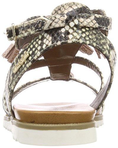 con multicolore Rosa alla Sandalo caviglia Multicolore cinturino donna 411470815964 da Bugatti 1vgqEw
