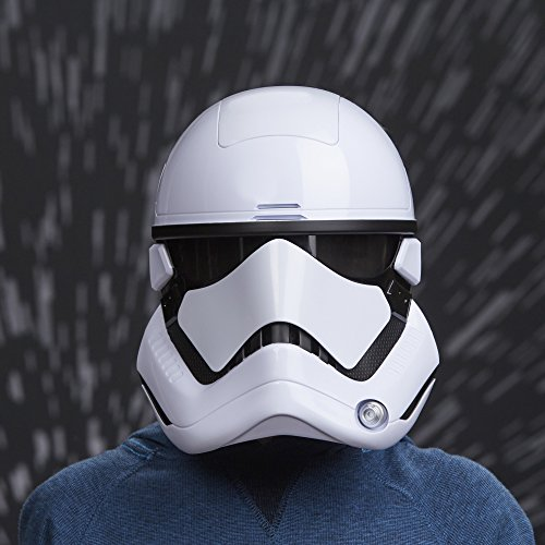 Star Wars C1413 : The Last Jedi First Order Stormtrooper Electronic Mask, Standard, White