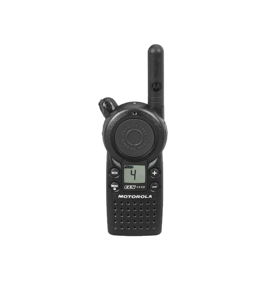 4 Pack of Motorola CLS1410 1 Watt Business Two-Way Radio with 4 Channels 121 Interference Codes 5 mile range