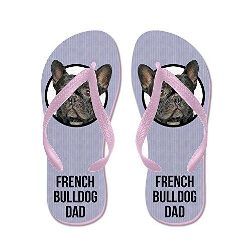 CafePress French Bulldog Dad - Flip Flops, Funny Thong Sandals, Beach Sandals Pink