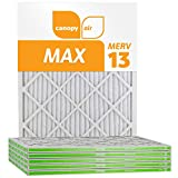 Canopy Air 16x25x1 MERV 13, MAX Allergen Protection Air Filter for a Healthy Home, 16x25x1, Box of 6, Made in The USA