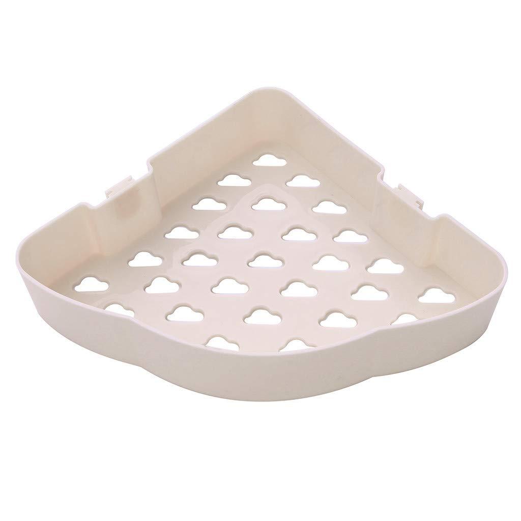 Hohaski プラスチック バスルーム キッチン コーナー ストレージ ラック オーガナイザー シャワーシェルフ 壁 バスルーム アクセサリー 粘着式 4色 ベージュ B07N7C9D4J ベージュ