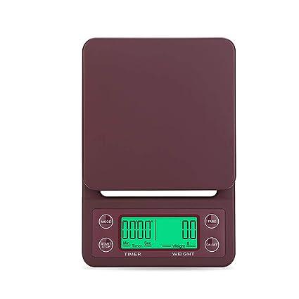 Wovemster Balanzas Electrónicas de LCD de Alta Precisión Portátiles, Escala de Café Por Goteo de