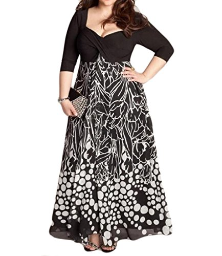 As Sexy Cocktail Coolred Size Long Dress Picture Plus Women Dress Classic Printed qBxrBvEY