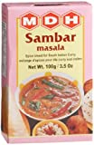 MDH Sambar Masala (Spice Blend for South Indian Curry), 3.5-Ounce Boxes (Pack of 10)