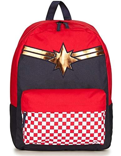 Vans CAPTAIN MARVEL Backpack Racing Red Schoolbag VN0A3QXFIZQ Vans MARVEL Bags -