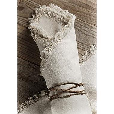 Richland Linen Napkins with Fringe Edge 20  Set of 12