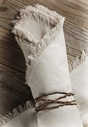 Richland Linen Napkins with Fringe Edge 20'' Set of 12