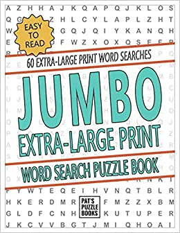 image about Large Printable Word Search identify Jumbo Excess Significant Print Term Appear Puzzle E book: Uncomplicated Toward
