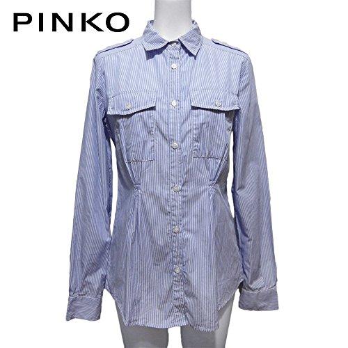 少ない駅面白い[ピンコ] PINKO コットン ストライプシャツブラウス 青×白 #40 PINKO  [並行輸入品]