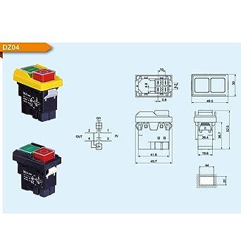 Electromagn/ético impermeable para cortador el/éctrico DZ04 de 4 pines Bipolar normalmente abierto