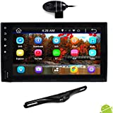 Premium 6.5 Double-DIN Android Car Stereo Receiver With Bluetooth and GPS Navigation - HD DVR Dash Cam and Rearview Backup Camera, Touchscreen Display W Wi-Fi Web Browsing, App Download (PLDNAND465)