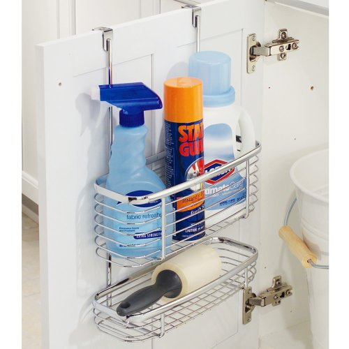 InterDesign Axis Over the Cabinet, X3 Basket, Chrome
