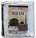 Islamic Men's Ihram Set for Hajj Umrah - 2 Piece Set - 110 x 220, 100 Percent Cotton (1500 gram Cotton)