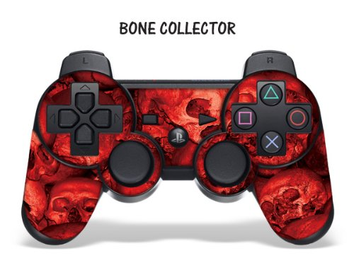 Protective Skin for Playstation 3 Remote Controller - Bone Collector Red