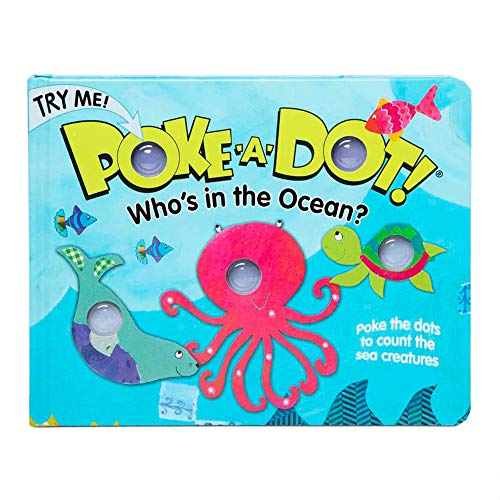 Melissa & Doug Children's Book – Poke-A-Dot: Who's in The Ocean (Board Book with Buttons To Pop)