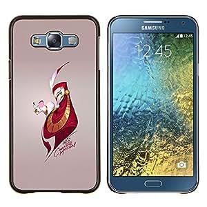 Ratón y Hombre- Metal de aluminio y de plástico duro Caja del teléfono - Negro - Samsung Galaxy E7 / SM-E700