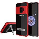 Galaxy S9 Case, PUNKcase [LUCID 3.0 Series] [Slim Fit] [Clear Back] Armor Cover w/Integrated Kickstand, Anti-Shock System & PUNKSHIELD Screen Protector for Samsung Galaxy S9 [Red]