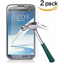 Galaxy Note 2 Screen Protector,TANTEK [Bubble-Free][HD-Clear][Anti-Scratch][Anti-Glare][Anti-Fingerprint] Premium Tempered Glass Screen Protector for Samsung Galaxy Note 2,[Lifetime Warranty]-[2Pack]