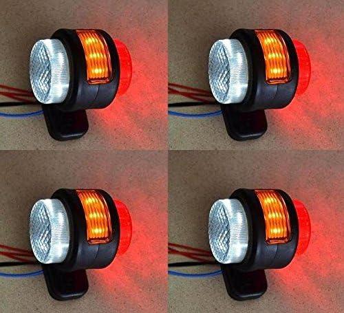 4pcs Side Outline Marcador luces bombillas 24V remolque camión caravana Chasis Autocaravana Naranja Blanco Rojo