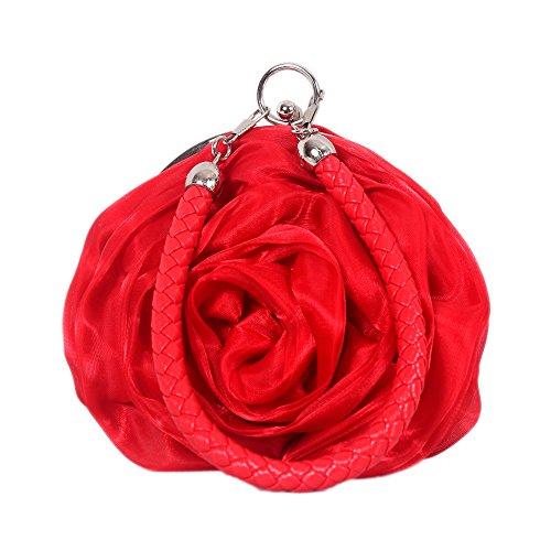 talla nica Cartera caf Rojo mujer para de mano Stone UK nfqx71w805