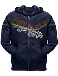 Pink Floyd - Mens Psychedelic Guitar Navy Zip Hoodie