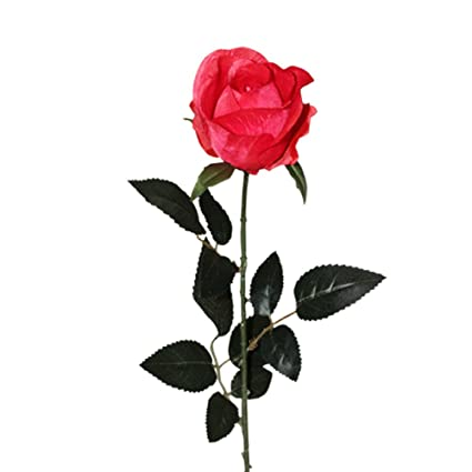 Amazon huazhiwu 28 real touch silk artificial flowers single huazhiwu 28quot real touch silk artificial flowers single roses delivery mightylinksfo