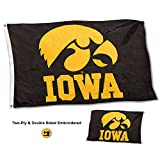 College Flags and Banners Co. Iowa Hawkeyes Double Sided Nylon Embroidered Flag