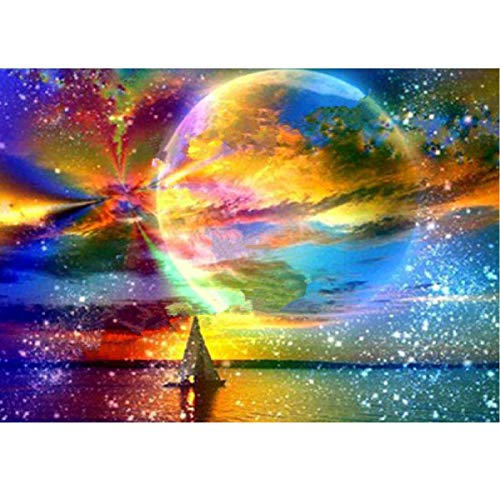 MXJSUA 5D DIY Diamond Painting by Number Kit Fulll Round Dril Beads Crystal Rhinestone Embroidery Cross Stitch Picture Supplies Arts Craft Wall Sticker Decor Phoenix 12x12In