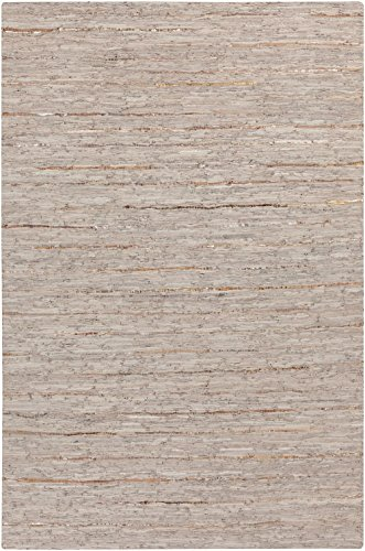 RugPal Solid/Striped Rectangle Area Rug 8'x10' in Oatmeal Color From Amerus Collection