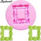 Star-Trade-Inc - M428 Classical Frame Retro Mirror Silicone Fondant Mold Frame Cake Decorating Baking Cupcake Chocolate Tools 8.9x1CM