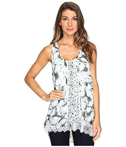 Karen Kane Women's Lace Hem Tank Top Print Shirt