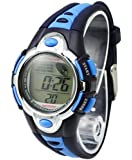 Style Trend Kids Watches Cute Flash Lights 50m Waterproof Chronograph Digital Sports Watch - Blue Color