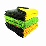 #6: IROCH Auto Detailing Towel Auto Shop towels,Polishing and Drying Cloth Rags by Nabob Wipers 100% coral velvet Commercial Grade Perfect for your Home Garage & Auto Body Shop (17.7x15) inches,3 Pack