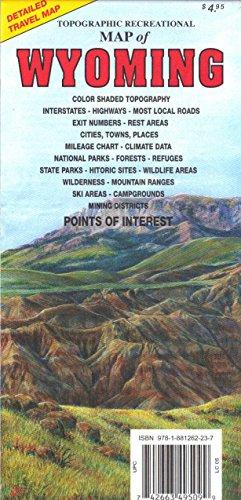 Wyoming Topographic Recreational Map