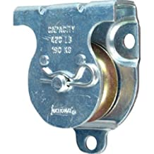 "National Hardware 3219BC 1-1/2"" Zinc Plated Wall/Ceiling Mount Single Pulley"