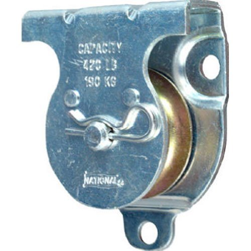 Stanley National Hardware 3219BC 1-1/2' Zinc Plated Wall/Ceiling Mount Single Pulley
